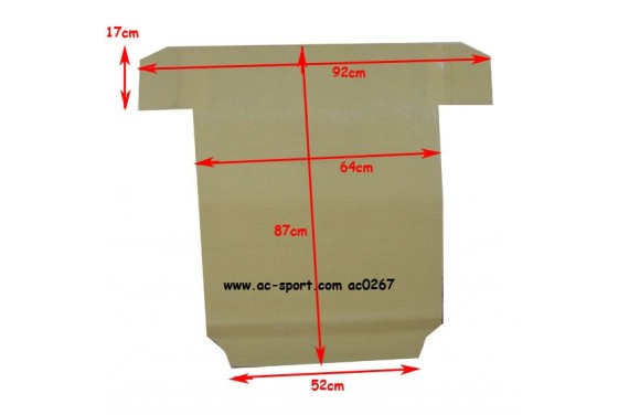 Protège carter kevlar avec nid d'abeille AC SPORT PEUGEOT 205 GTI RALLYE