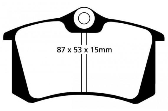 Plaquettes de frein arrière Pagid RS4.2 Megane 2 RS