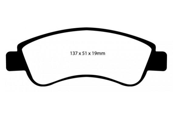 Plaquettes de frein avant EBC Jaune Peugeot 206 S16 (Bosch)