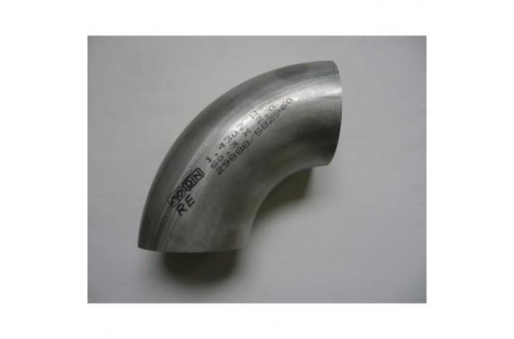 Coude inox D70mm x2mm