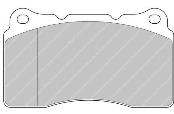 Plaquette FERODO DS3000 pour subaru impreza STi 2.0 EJ20 (etrier brembo)