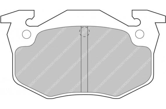 Plaquette de frein AR FERODO RACING DS2500 pour Peugeot 306 S16 BV6