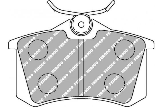 Plaquette de frein arrière FERODO DS2500 pour Megane 3 RS CLIO IV RS 208 GTi