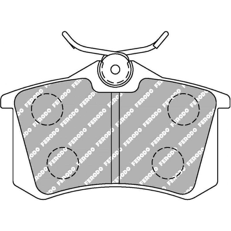 plaquette de frein avant ferodo ds uno pour megane 3 rs. Black Bedroom Furniture Sets. Home Design Ideas