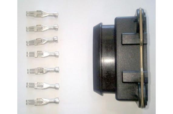 Connecteur AMP femelle noir 7 voies