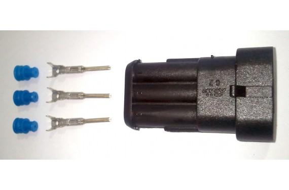 Connecteur AMP Super Seal femelle noir 3 voies