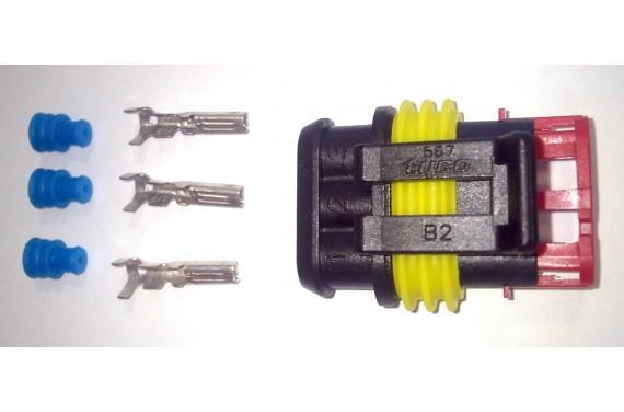 Connecteur AMP Super Seal male noir 3 voies
