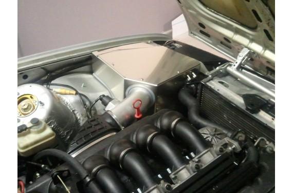 Boîte à air aluminium sur mesure MK6 filtre à air GREEN, réalisation sur votre véhicule dans notre atelier F-91940 LES ULIS