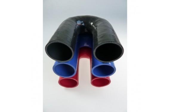 Coude 180° silicone REDOX diamètre intérieur 48mm Longueur 100x100mm