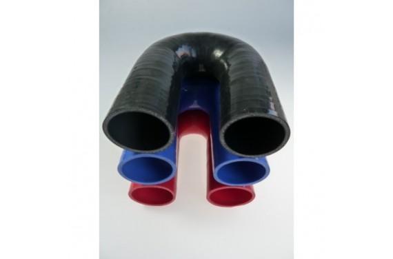 Coude 180° silicone REDOX diamètre intérieur 51mm Longueur 100x100mm