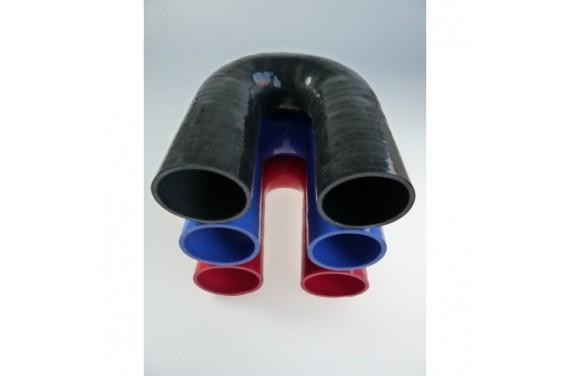 Coude 180° silicone REDOX diamètre intérieur 57mm Longueur 100x100mm