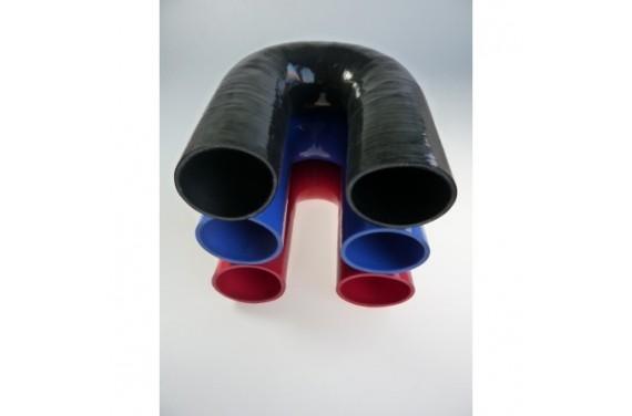 Coude 180° silicone REDOX diamètre intérieur 63mm Longueur 100x100mm