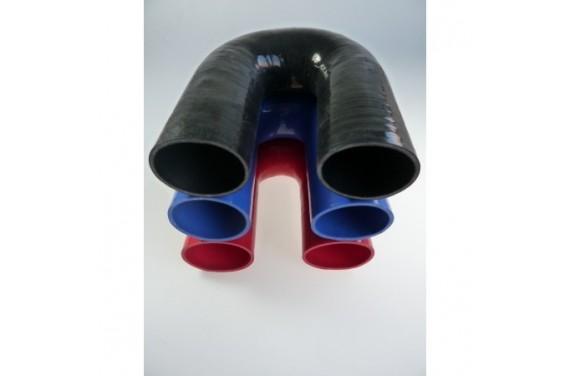 Coude 180° silicone REDOX diamètre intérieur 70mm Longueur 100x100mm