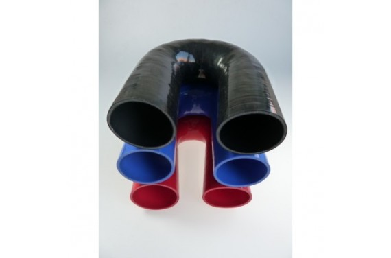 Coude 180° silicone REDOX diamètre intérieur 76mm Longueur 100x100mm