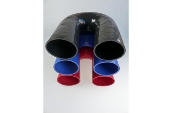 Coude 180° silicone REDOX diamètre intérieur 80mm Longueur 100x100mm
