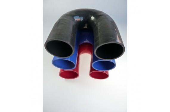 Coude 180° silicone REDOX diamètre intérieur 90mm Longueur 100x100mm
