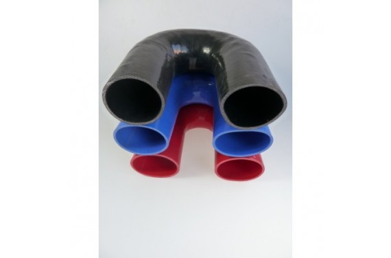 Coude 180° silicone REDOX diamètre intérieur 95mm Longueur 100x100mm