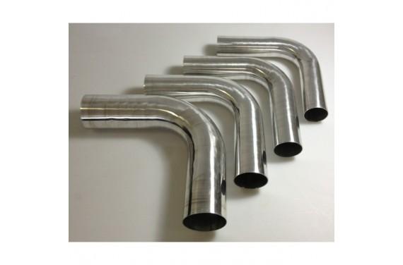 Coude 90° aluminium REDOX diamètre extérieur 76mm Longueur 140x140mm