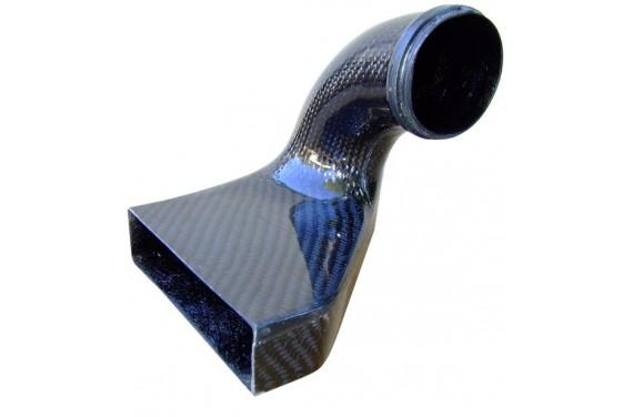 Ecope prise air carbone AC SPORT pour boîte à air d'origine PEUGEOT 206 S16 1.6