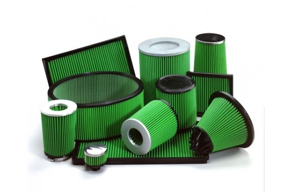 Filtre à air GREEN cylindrique (E65, L100, D100,)