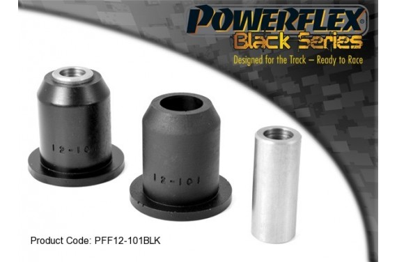 Silent bloc renforcé Powerflex BLACK PSA 106 Saxo 16s, avant triangle.
