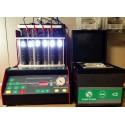 Test sur banc d'essai pour injecteurs essence