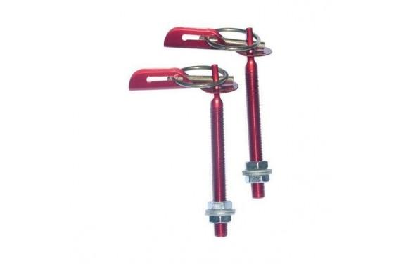 Attaches capot Dakar Alu, coloris : Rouge - vendu par paire