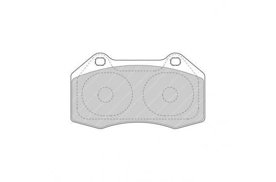 Plaquette de frein avant FERODO DS UNO pour Megane 2 RS