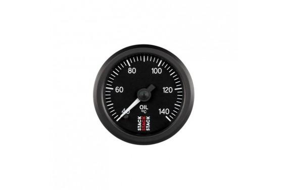 Manomètre STACK analogique pro température huile 40-140°C fond noir