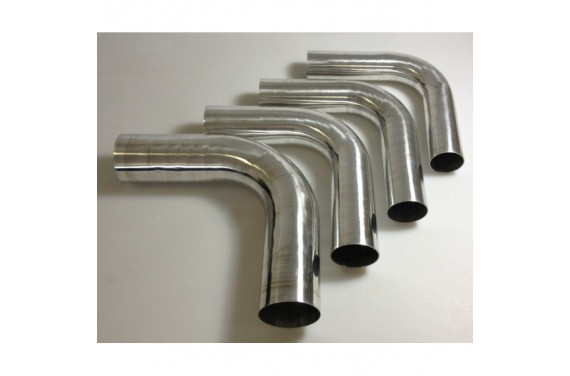 Coude 90 aluminium REDOX diametre exterieur 48mm Longueur 140x140mm