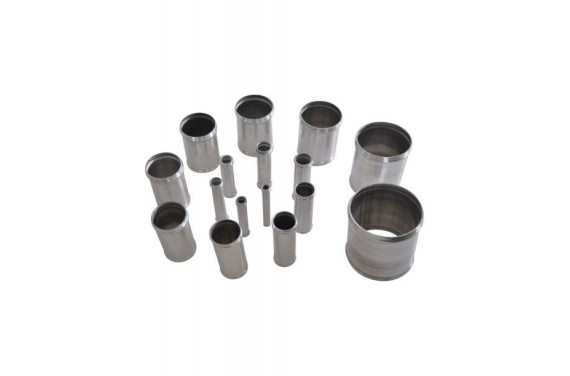 Manchon droit aluminium REDOX diametre interieur 51mm et derivation 25mm Longueur 100mm