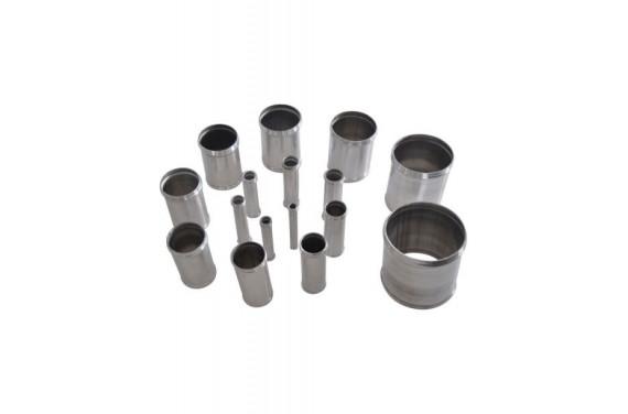 Manchon droit aluminium REDOX diametre interieur 76mm et derivation 25mm Longueur 100mm