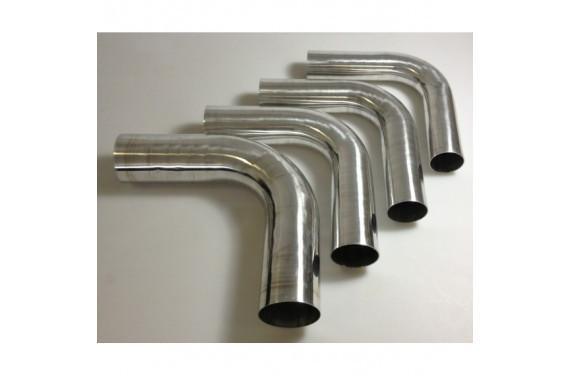 Coude 90 aluminium REDOX diametre exterieur 90mm Longueur 140x140mm