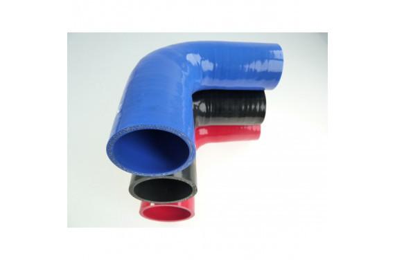 Coude reducteur 90 silicone REDOX diametre interieur 102 a 76mm Longueur 125x125mm