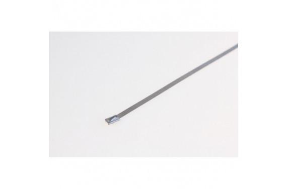 Collier de serrage inox largeur 5mm pour isolant d'echappement - longueur 400mm