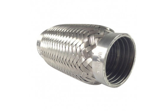 Flexible d'echappement inox pour tube diametre 42.4mm - longueur 63mm