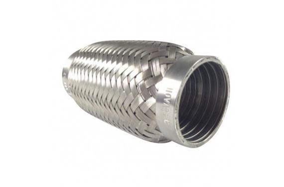 Flexible d'echappement inox pour tube diametre 53mm - longueur 152mm